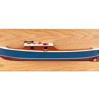 Mistral Maquettes - Demi-coque de la Pinasse (70 cm x 23 cm), bateau traditionnel du bassin d'Arcachon