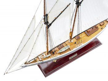 Maquette d'exposition entièrement montée - Mistral Maquettes – Bluenose - 81 cm - vue plongeante globale