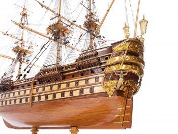 Maquette de collection - Mistral Maquettes - La Bretagne - 92 cm - vue bâbord château arrière