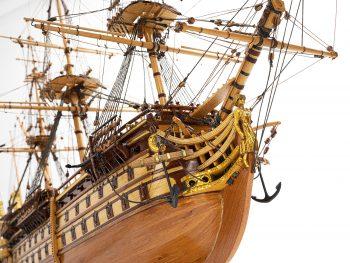 Maquette de collection - Mistral Maquettes - La Bretagne - 92 cm - vue tribord proue