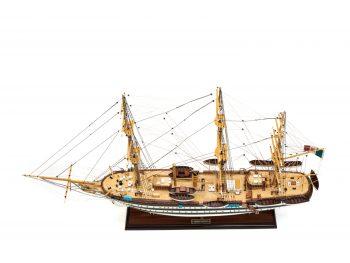 Maquette d'exposition entièrement montée - Mistral Maquettes – Amerigo Vespucci - 90 cm – vue plongeante globale