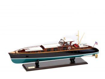 Maquette en bois entièrement montée - Mistral Maquettes – Yacht Aphrodite - 90 cm - vue latérale bâbord avant