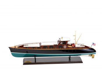 Maquette en bois entièrement montée - Mistral Maquettes – Yacht Aphrodite - 90 cm - vue latérale bâbord