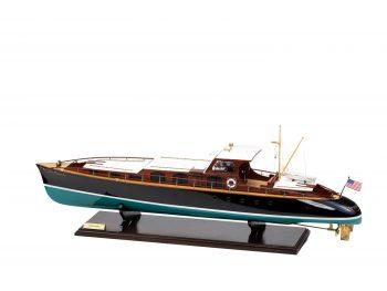 Maquette en bois entièrement montée - Mistral Maquettes – Yacht Aphrodite - 90 cm - vue latérale bâbord arrière