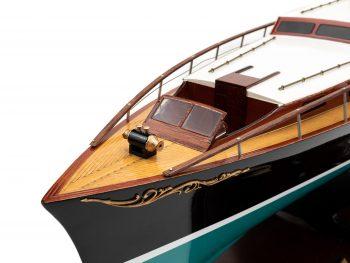 Maquette en bois entièrement montée - Mistral Maquettes – Yacht Aphrodite - 90 cm - vue bâbord pont avant