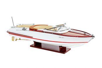 Maquette de collection montée du canot à moteur Aquariva (70 cm), vue d'ensemble