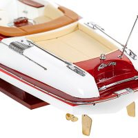 Maquette de collection montée du canot à moteur Aquariva (70 cm), vue de la plage arrière