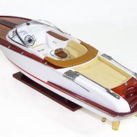 Maquette de collection montée du canot à moteur Aquariva (70 cm), vue d'ensemble babord
