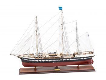 Maquette d'exposition entièrement montée – Mistral Maquettes - Belem (1/75 ème - 81 cm ) - vue bâbord