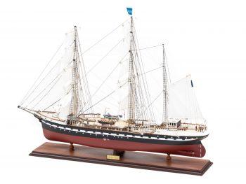Maquette d'exposition entièrement montée – Mistral Maquettes - Belem (1/75 ème - 81 cm ) - vue latérale bâbord