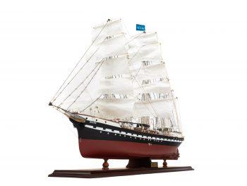 Maquette d'exposition entièrement montée – Mistral Maquettes - Belem (1/75 ème - 81 cm ) - vue bâbord avant