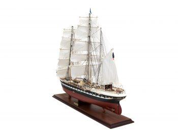 Maquette d'exposition entièrement montée – Mistral Maquettes - Belem (1/75 ème - 81 cm ) - vue bâbord arrière