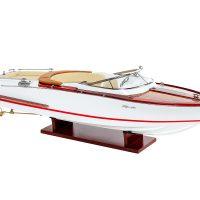 Maquette d'exposition entièrement montée - Mistral Maquettes - Aquariva - 71 cm vue latérale tribord