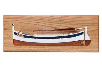 Demi-coque du bateau de pêche Le Pointu (60 cm), bateau traditionnel méditerranéen