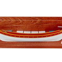 Demi-coque peinte d'une barque catalane (60 cm), bateau traditionnel méditerranéen