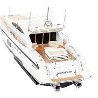 Maquette de collection montée du yacht Mangusta (85 cm), vue arrière babord