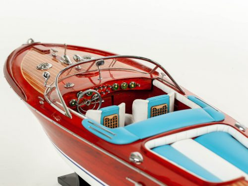 Maquette d'exposition entièrement montée – Mistral Maquettes - Aquarama Bleu - 68 cm - vue babord avant