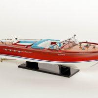 Maquette d'exposition entièrement montée – Mistral Maquettes - Aquarama Bleu - 68 cm - vue latérale tribord avant
