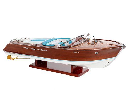 Maquette d'exposition entièrement montée - Mistral Maquettes - Aquarama Bleu 90 cm - vue latérale tribord