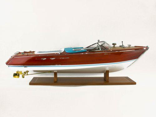Maquette d'exposition entièrement montée – Mistral Maquettes - Aquarama Bleu - 90 cm - vue latérale tribord