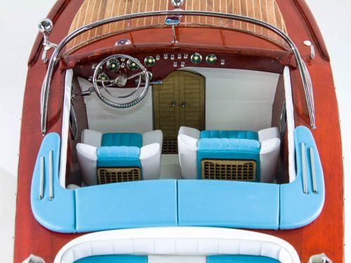 Maquette d'exposition entièrement montée – Mistral Maquettes - Aquarama Bleu - 90 cm - vue plongeante cockpit