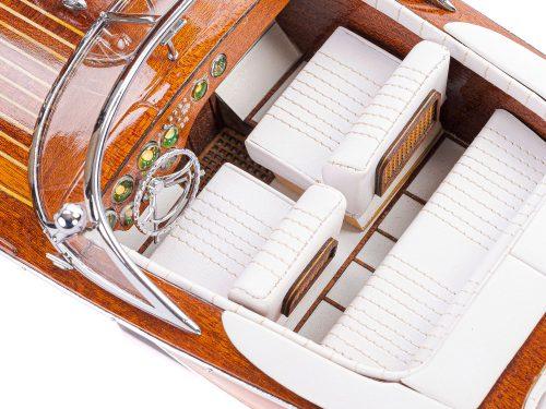 Maquette d'exposition entièrement montée - Mistral Maquettes - Aquarama blanc - 53 cm - vue détaillée du cockpit