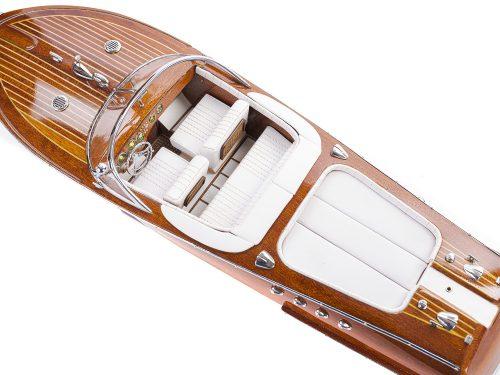 Maquette d'exposition entièrement montée - Mistral Maquettes - Aquarama blanc - 53 cm - vue de haut 1
