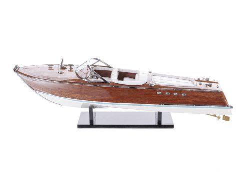 Maquette d'exposition entièrement montée - Mistral Maquettes - Aquarama blanc - 53 cm - vue latérale babord 1