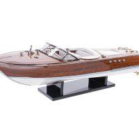 Maquette d'exposition entièrement montée - Mistral Maquettes - Aquarama blanc - 53 cm - vue latérale babord 2