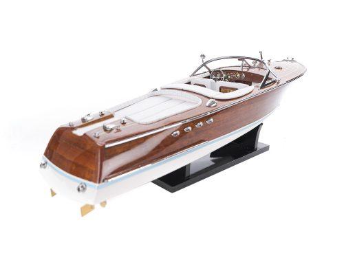 Maquette d'exposition entièrement montée - Mistral Maquettes - Aquarama blanc - 53 cm - vue latérale tribord arrière
