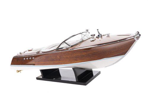 Maquette d'exposition entièrement montée - Mistral Maquettes - Aquarama blanc - 53 cm - vue latérale tribord avant