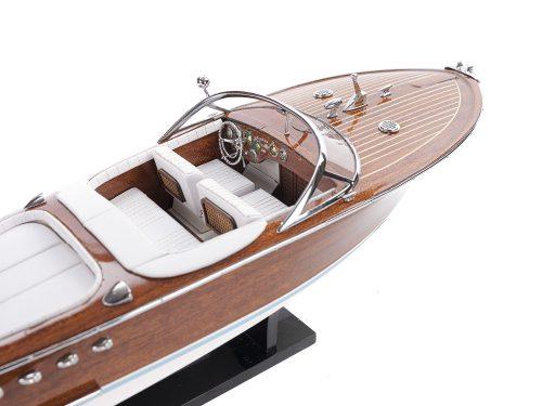 Maquette d'exposition entièrement montée - Mistral Maquettes - Aquarama blanc - 53 cm - vue tribord du cockpit