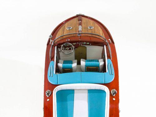 Maquette d'exposition entièrement montée – Mistral Maquettes - Aquarama bleu - 90 cm - Vue plongeante avant