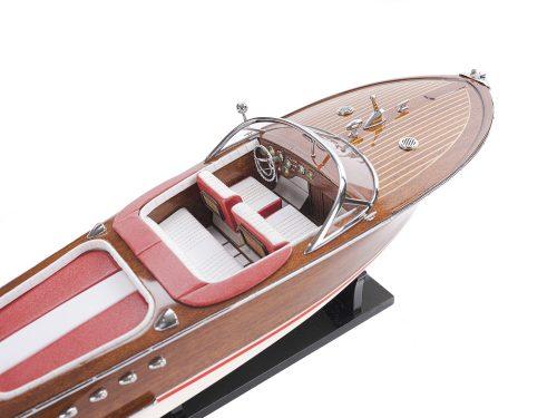 Maquette d'exposition entièrement montée - Mistral Maquettes - Aquarama rouge - 53 cm - vue de haut 1