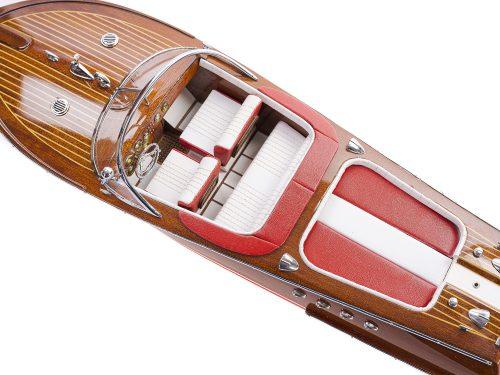 Maquette d'exposition entièrement montée - Mistral Maquettes - Aquarama rouge - 53 cm - vue de haut 2