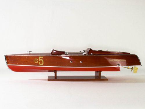 Maquette d'exposition entièrement montée – Mistral Maquettes - Babybootlager - 70 cm - Vue latérale babord