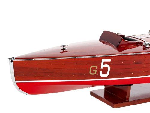 Maquette d'exposition entièrement montée - Mistral Maquettes - Babybootlagger G5 - 70 cm - Vue avant babord