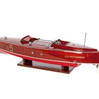 Maquette d'exposition entièrement montée - Mistral Maquettes - Babybootlagger G5 - 70 cm - Vue latérale babord