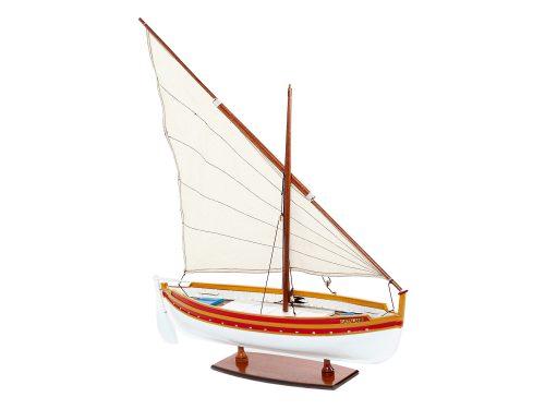 Maquette d'exposition entièrement montée – Mistral Maquettes - Barque Catalane - 54 cm - vue latérale tribord