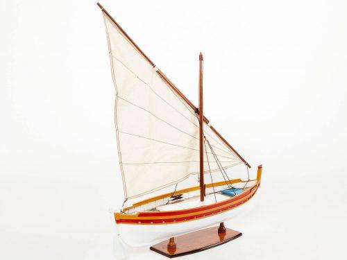 Maquette d'exposition entièrement montée – Mistral Maquettes - Barque catalane - 54 cm - Vue tribord arrière
