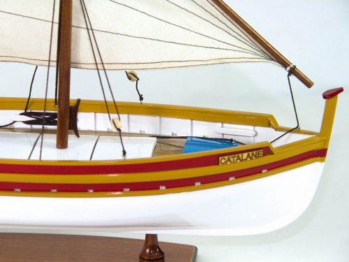 Maquette d'exposition entièrement montée – Mistral Maquettes - Barque catalane 54 cm - Vue tribord avant