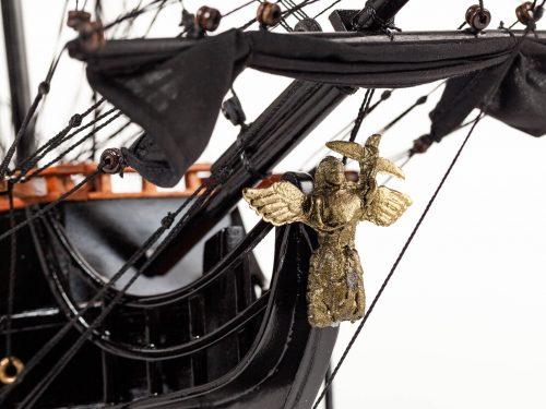 Maquette d'exposition entièrement montée – Mistral Maquettes - Black Pearl - 88 cm - vue figure de proue