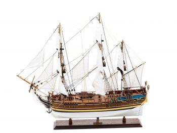 Maquette d'exposition entièrement montée - Mistral Maquettes - Le Bounty - 72 cm - vue globale bâbord