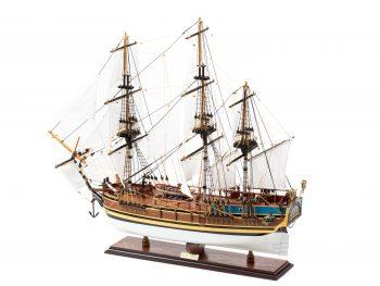 Maquette d'exposition entièrement montée - Mistral Maquettes - Le Bounty - 72 cm - vue globale latérale bâbord