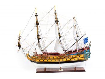 Maquette d'exposition entièrement montée – Mistral Maquettes – Galion La Licorne (85 cm), vue latérale bâbord