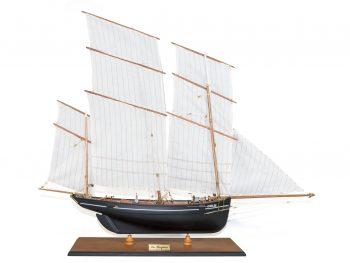 Maquette d'exposition entièrement montée –Mistral Maquettes - La Bisquine Cancalaise - 78 cm - vue globale tribord