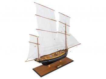 Maquette d'exposition entièrement montée –Mistral Maquettes - La Bisquine Cancalaise - 78 cm - vue latérale tribord arrière