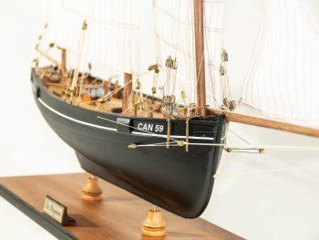 Maquette d'exposition entièrement montée – Mistral Maquettes - La Bisquine Cancalaise - 78 cm - vue proue
