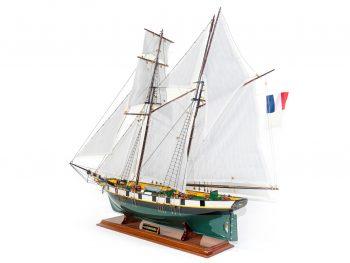 Maquette d'exposition entièrement montée –Mistral Maquettes - La Recouvrance - 80 cm - vue globale bâbord arrière