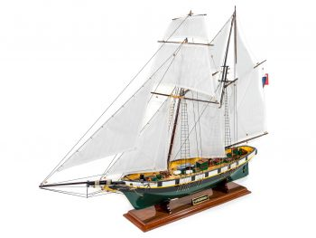 Maquette d'exposition entièrement montée –Mistral Maquettes - La Recouvrance - 80 cm - vue globale bâbord avant